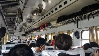 Onboard SE8 from Ninh Binh to hanoi
