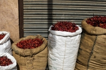 Dried Chillies for Sale at the local market